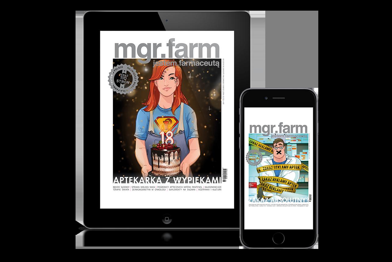 Elektroniczna prenumerata dwumiesięcznika 'MGR.FARM - jestem farmaceutą'. Wersja elektroniczna gazety, dostępna po zalogowaniu