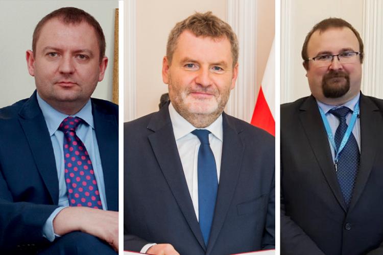 Marcin Kołakowski, Paweł Piotrowski i Michał Byliniak  na ostatniej prostej walczyli o stanowisko Głównego Inspektora Farmaceutycznego. (fot. URPL/MZ/NIA)