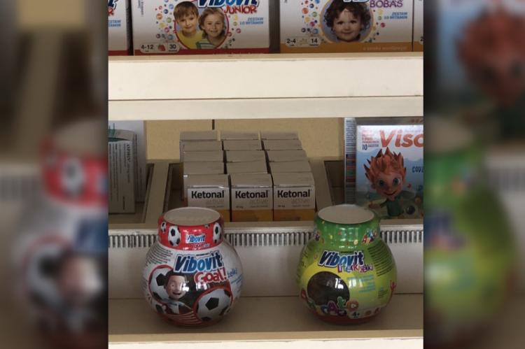 Wykluczonym jest, aby suplementy diety i produkty lecznicze mogły być umieszczone na tych samych półkach obok siebie. (fot. nadesłane przez czytelnika)