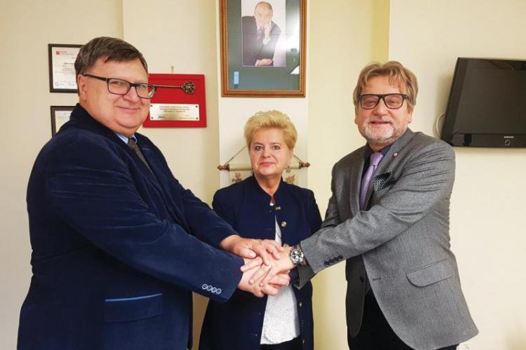 Główny Inspektor Sanitarny trzymał wsparcie zarządu Porozumienia Pracodawców Ochrony Zdrowia w ramach współpracy w zakresie promocji szczepień i walce z ruchem proepidemicznym. (fot. Główny Inspektorat Sanitarny / Twitter)