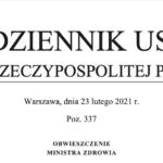 Rozporządzenie w sprawie umów na realizację recept – tekst jednolity